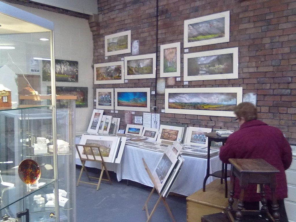 Another view of my Ironbridge Arts and Antiques shop. Gwendda the Witch Photographer