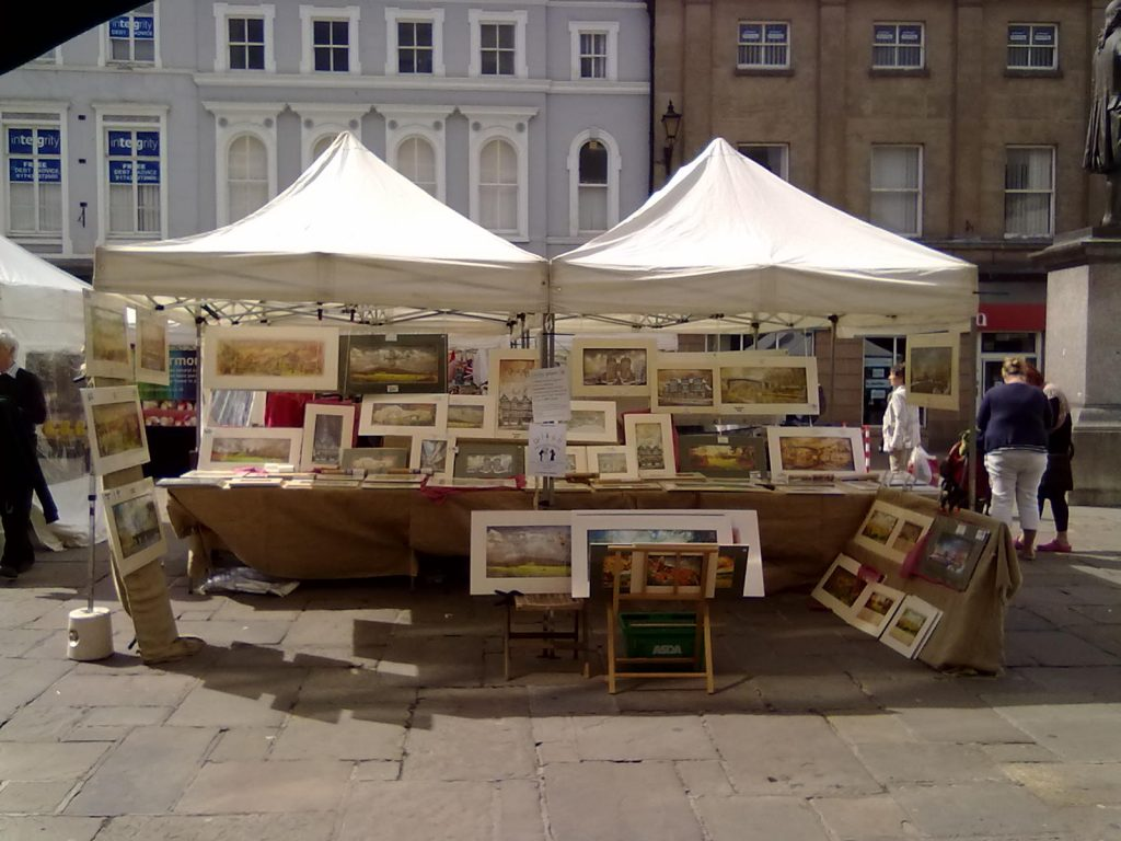 Market stall in Shrewsbury's Old Market Square - Gwendda the Witch Photographer