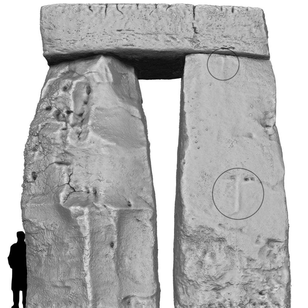 Buy Stonehenge Models: Stonehenge Trilithon Two from outside showing the hammerstone ridges on Stone 53 1024x1024  - Trilithon Two - Trilithon Two