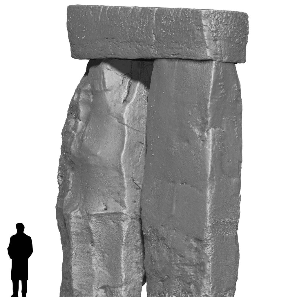 Buy Stonehenge Models: Stonehenge Trilithon Two in orthographic from the east 1024x1024  - Trilithon Two - Trilithon Two