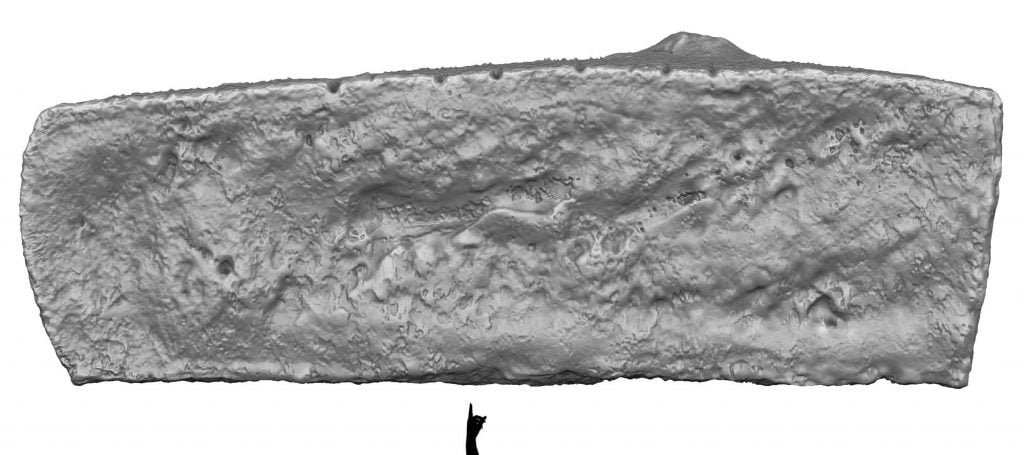 Buy Stonehenge Models: Stonehenge Trilithon Two lintel Stone 154 from top in perspective 1024x455  - Trilithon Two - Trilithon Two