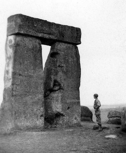 Buy Stonehenge Models: Visiting Stonehenge during WWII on the Salisbury Plain England.  - Trilithon Two - During World War II
