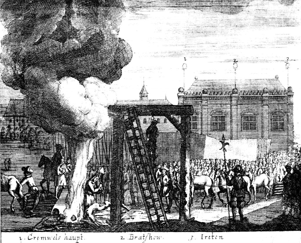Execution of Cromwell, Bradshaw and Ireton, 1661