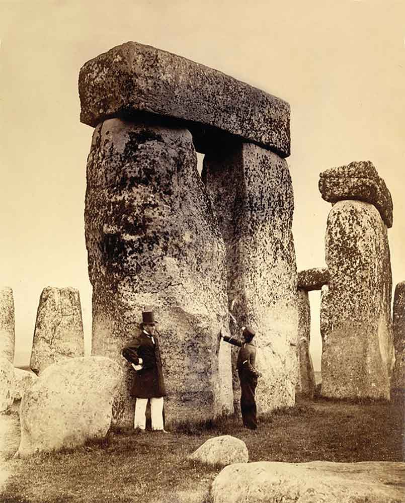 Buy Stonehenge Models: Ordnance Survey at Stonehenge 1867  - Trilithon Two - A photo taken in 1867 during a visit by The Ordinance Survey.