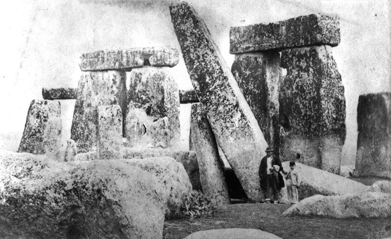 Buy Stonehenge Models: c1875 Richard Phillimore Stonehenge inside the stones from the north west  - Trilithon Two - Our Trilithon Two in 1875