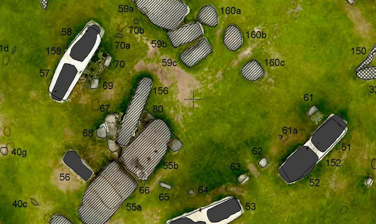 Buy Stonehenge Models: close up of the large map  - Large map - Large map