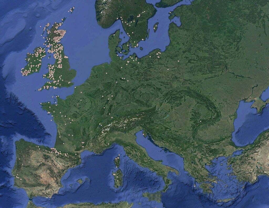 Buy Stonehenge Models: stone circles throughout europe 1 1024x792  - Bluestones. Glacier or man? - Bluestones. Glacier or man?