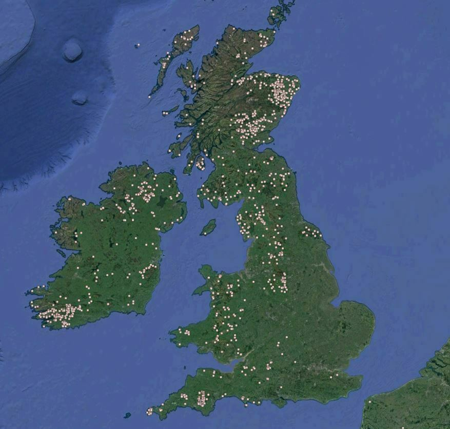 Buy Stonehenge Models: stone circles throughout uk  - Bluestones. Glacier or man? - UK distribution of stone circles