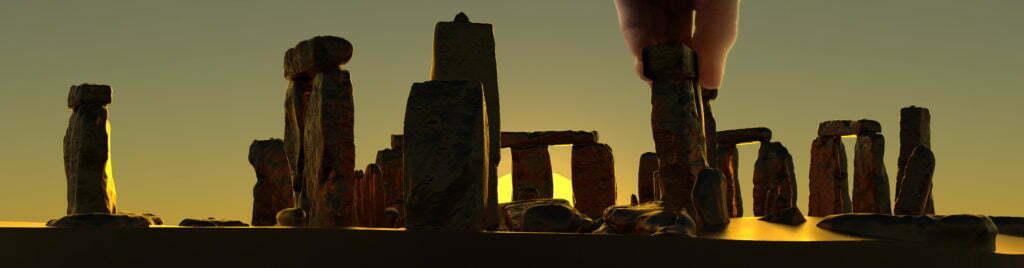 Buy Stonehenge Models: summer solstice sunrise 76th scale 1024x268  - 76 and 35th scale models of Stonehenge - 76 and 35th scale models of Stonehenge
