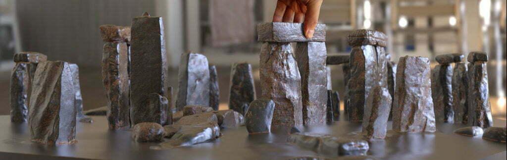 Buy Stonehenge Models: 35th scale full set light rust patina 2 1024x323  - 76 and 35th scale models of Stonehenge - 76 and 35th scale models of Stonehenge