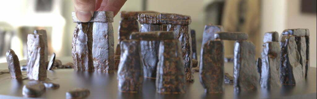 Buy Stonehenge Models: 76th scale full set stonehenge stones rusty iron patina 2 1024x322  - 76 and 35th scale models of Stonehenge - 76 and 35th scale models of Stonehenge