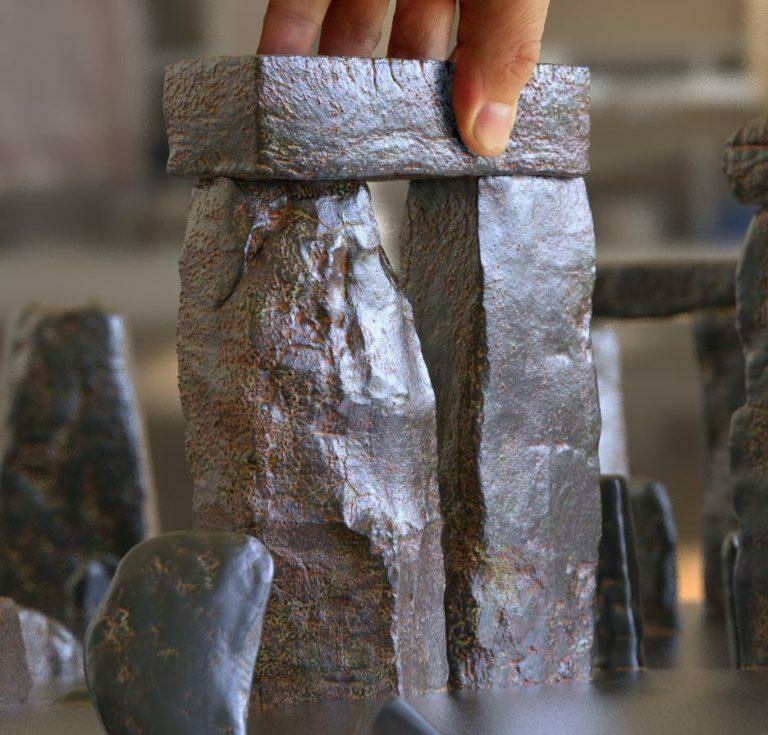 Buy Stonehenge Models: t2 out 35 corner 768x735  - T2 close ups of 76 and 35 scale - T2 close ups of 76 and 35 scale