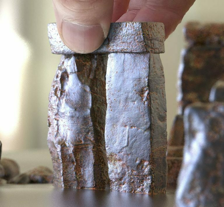 Buy Stonehenge Models: t2 out 76 corner 768x709  - T2 close ups of 76 and 35 scale - T2 close ups of 76 and 35 scale