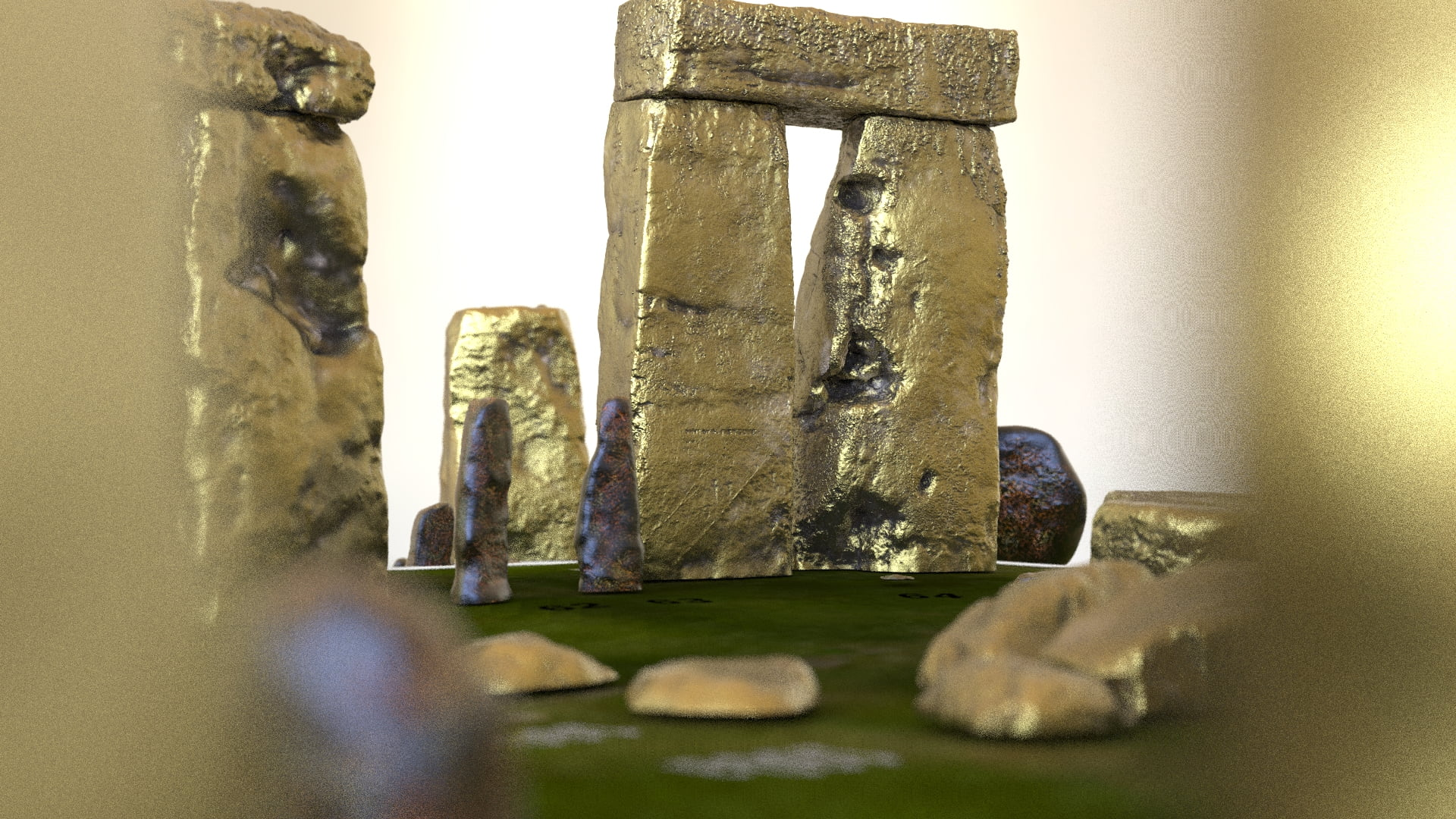 Buy Stonehenge Models: Aged brass Stonehenge replica models at 200th scale 195 x 195 mm or 7.7 x 7.7 square on parch marked grass map with numbered stones accurate and highly detailed.58  - 200th scale pick n mix -