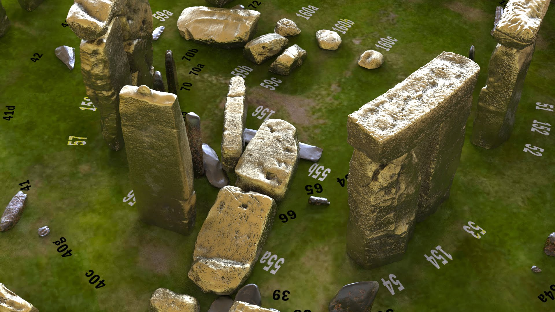 Buy Stonehenge Models: Aged brass Stonehenge replica models at 200th scale 195 x 195 mm or 7.7 x 7.7 square on parch marked grass map with numbered stones accurate and highly detailed.59  - 200th scale pick n mix -