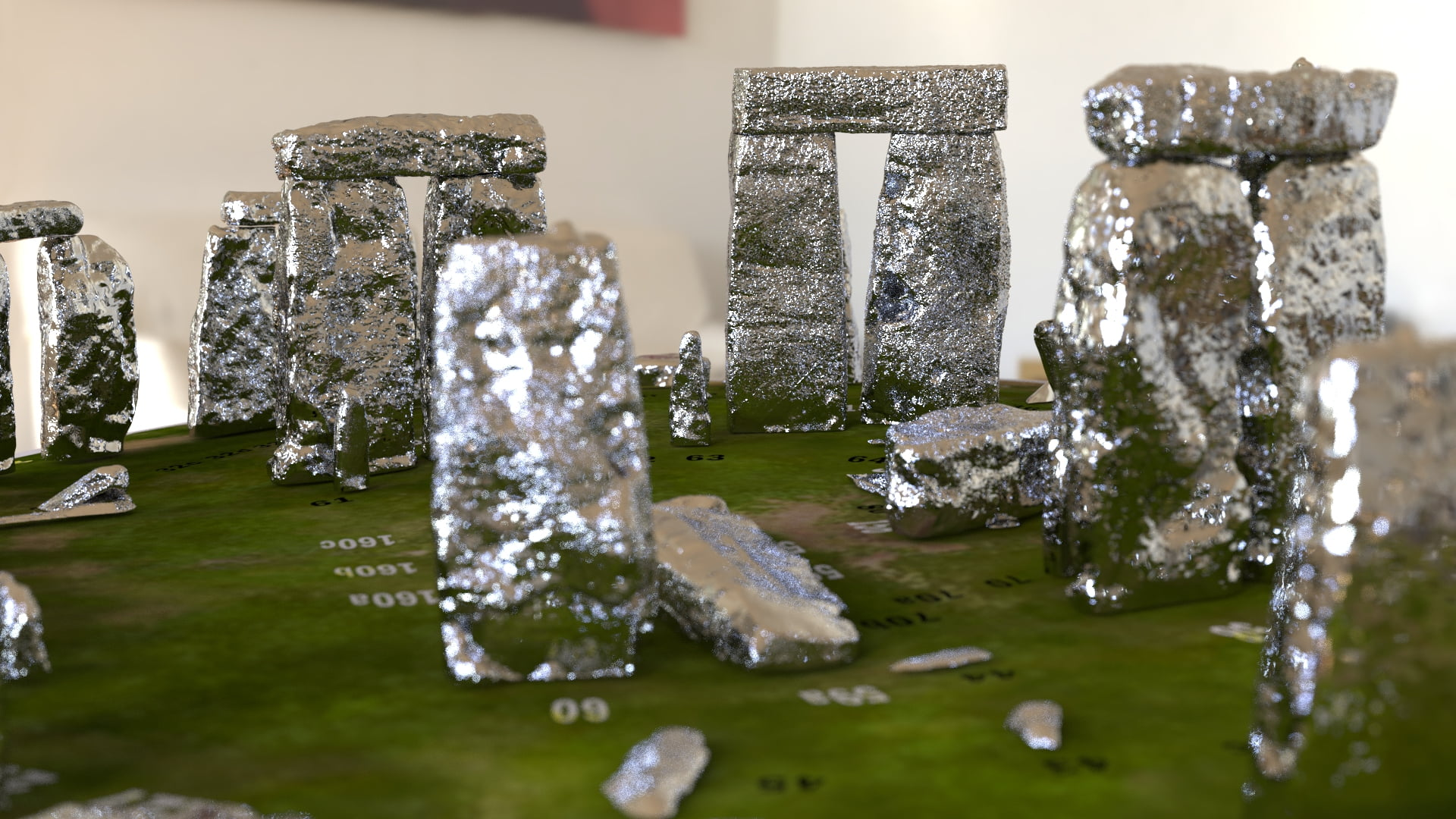 Buy Stonehenge Models: Silver Stonehenge replica models at 200th scale 002 2  - 200th scale pick n mix -