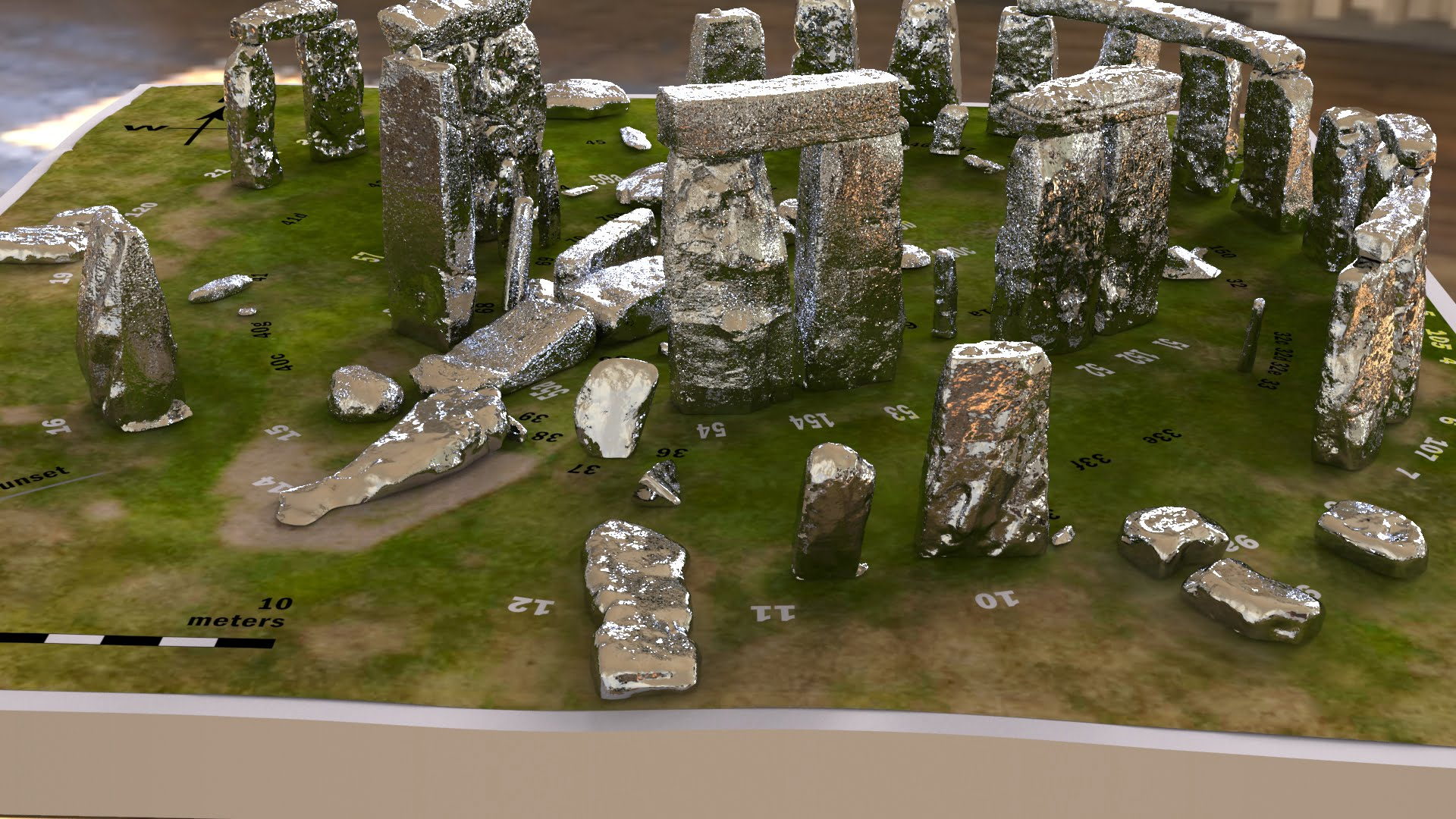 Buy Stonehenge Models: Silver Stonehenge replica models at 200th scale 003 2  - 200th scale pick n mix -