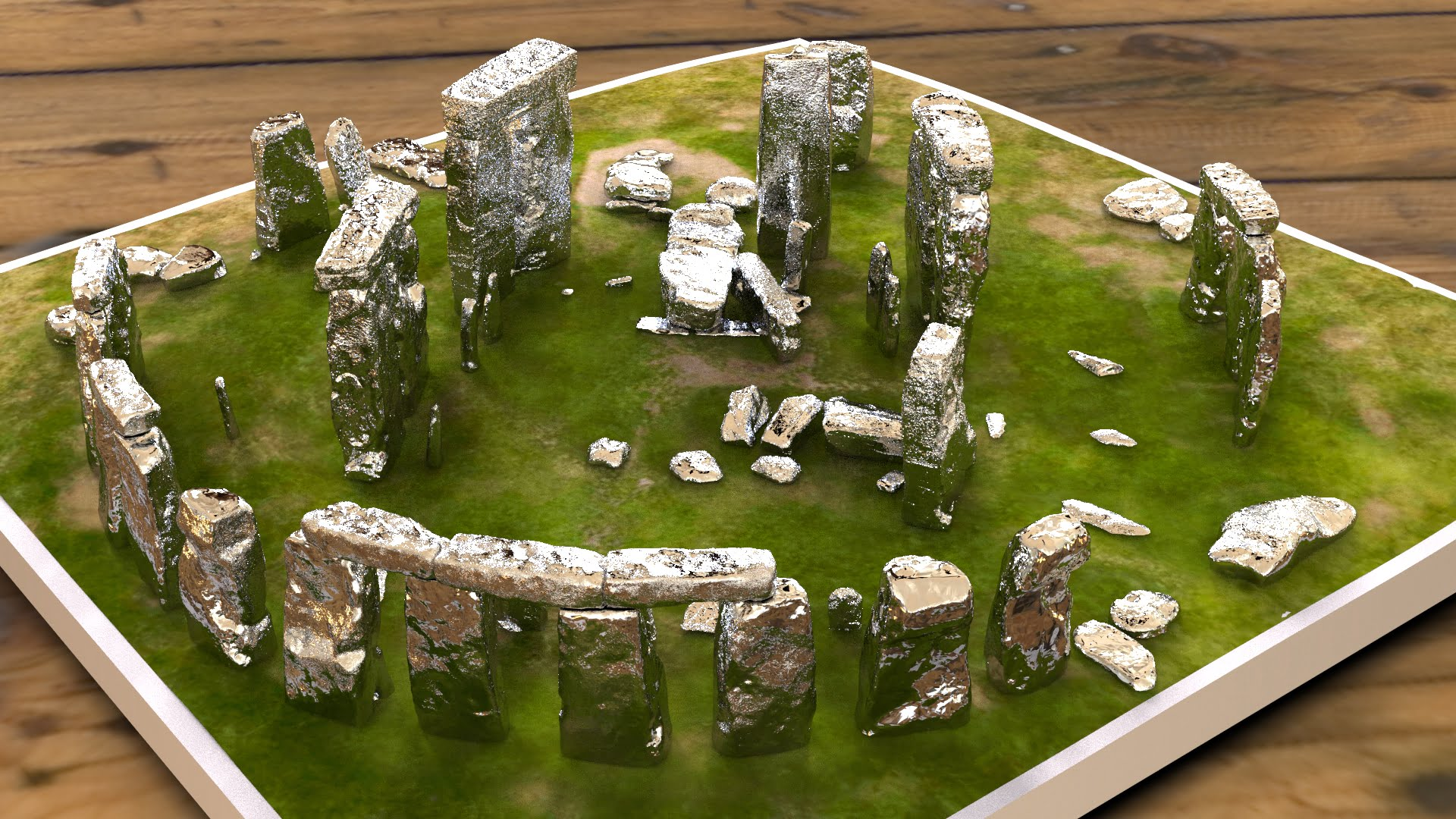 Buy Stonehenge Models: Silver Stonehenge replica models at 200th scale 004  - 200th scale pick n mix -
