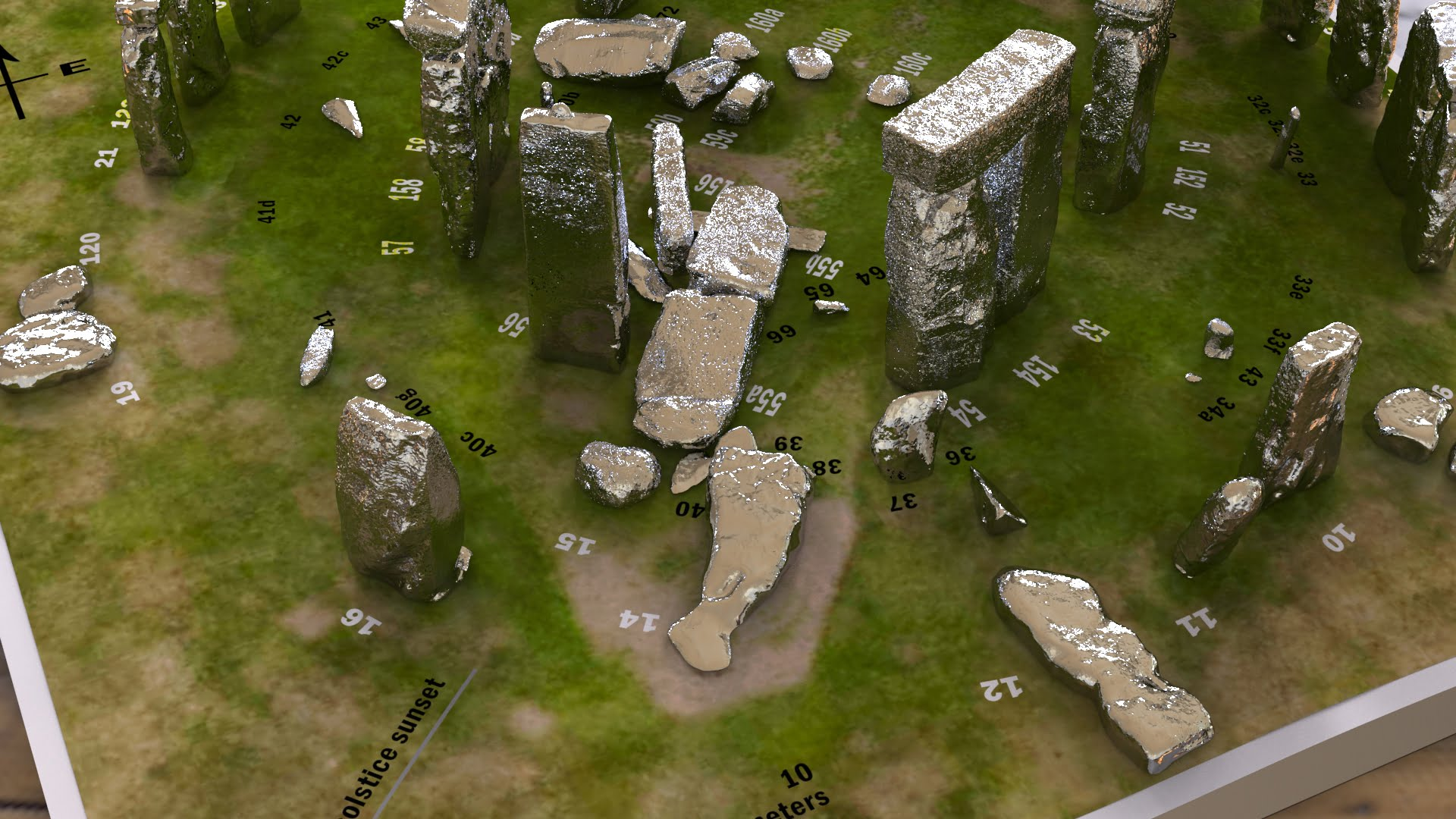 Buy Stonehenge Models: Silver Stonehenge replica models at 200th scale 2  - 200th scale pick n mix -
