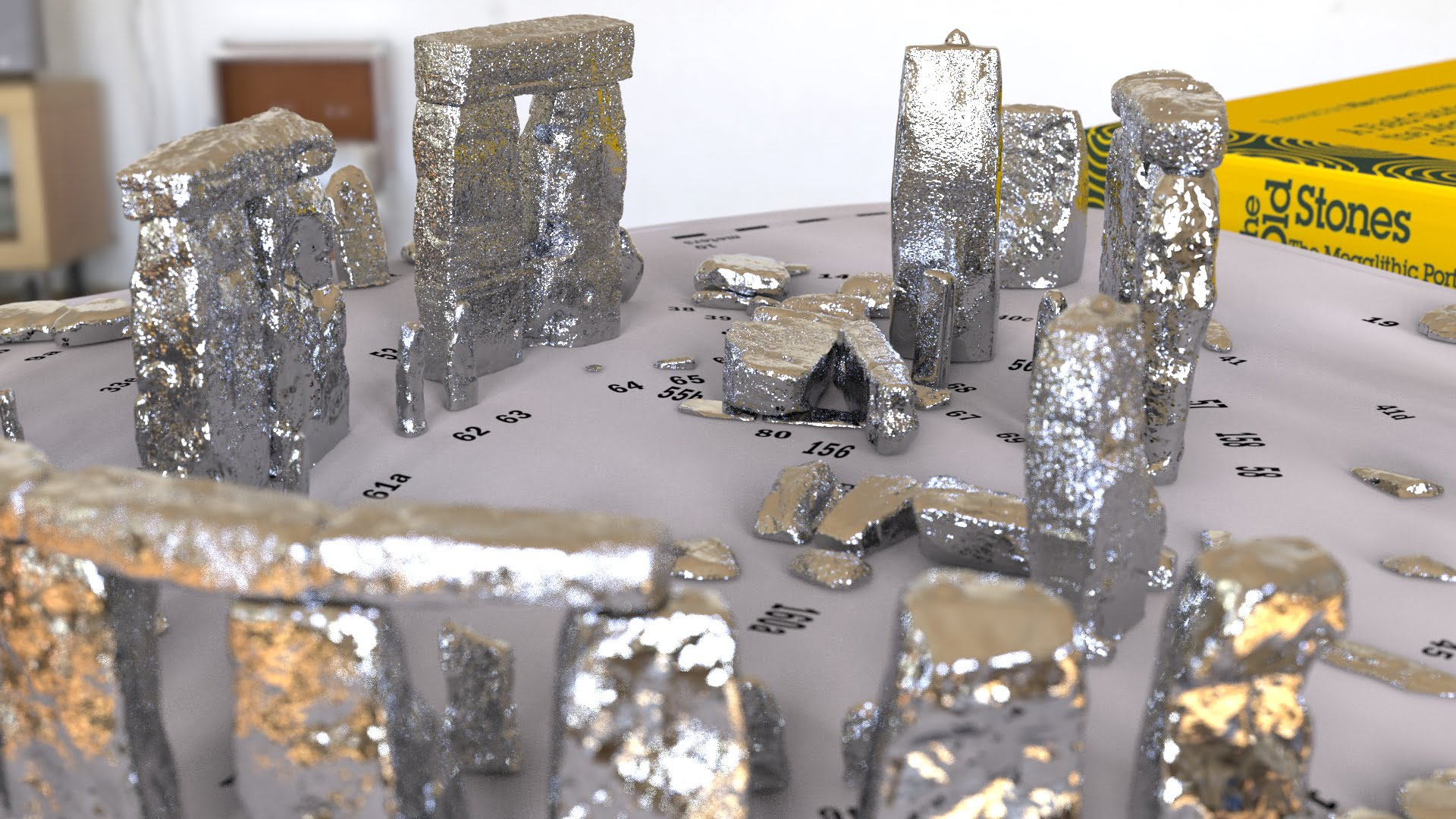Buy Stonehenge Models: Silver Stonehenge replica models at 200th scale. white ground 34  - 200th scale pick n mix -