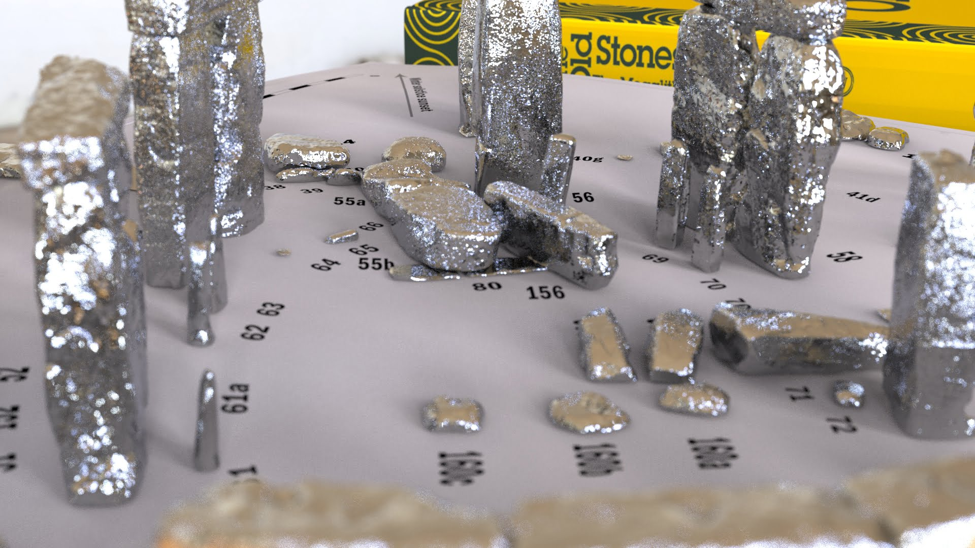 Buy Stonehenge Models: Silver Stonehenge replica models at 200th scale. white ground 37  - 200th scale pick n mix -