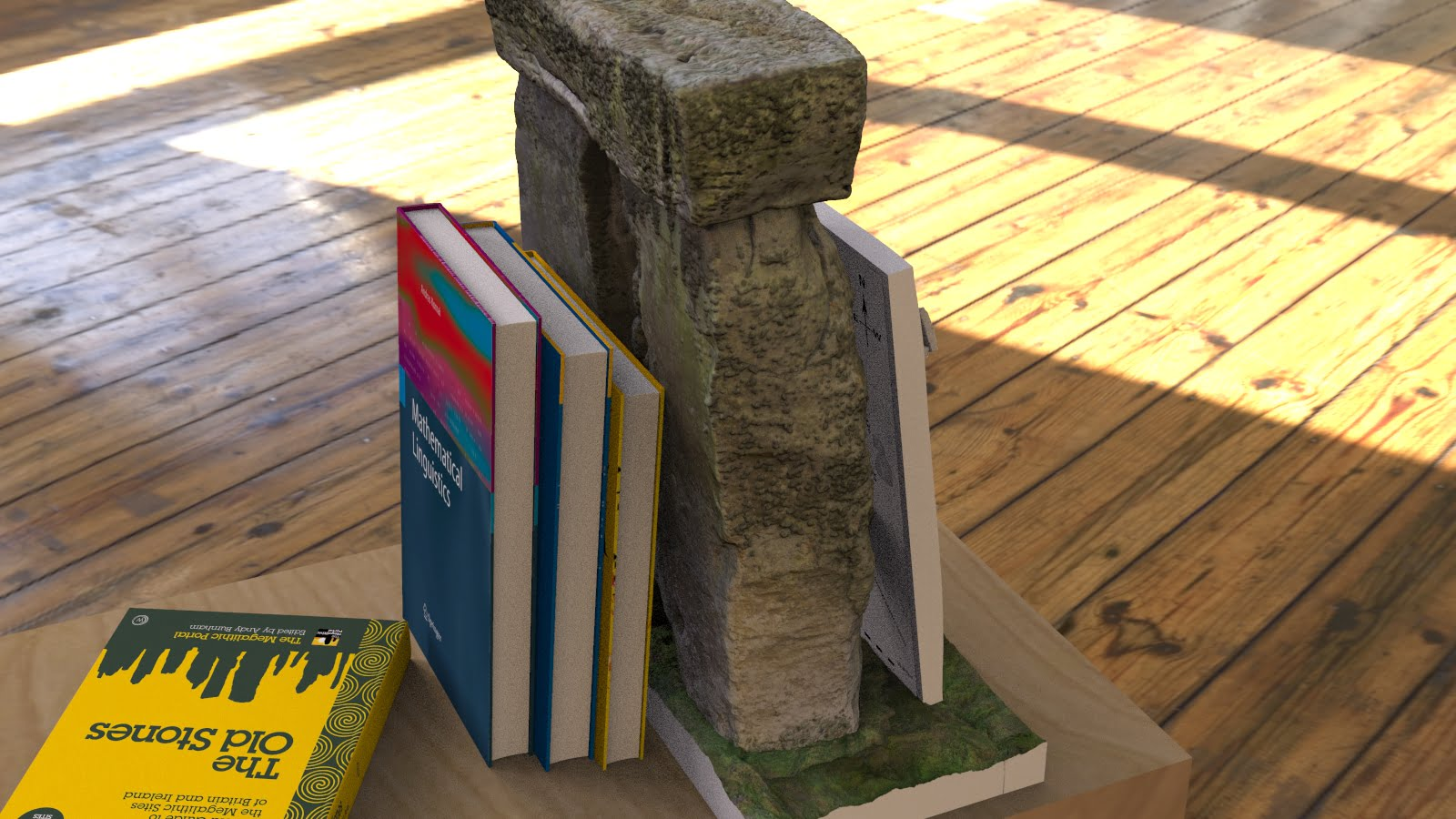 Buy Stonehenge Models: Stonehenge model replica bookend with hyper detailed gicell decals in full UV resistant colour 002  - 24th scale bookend with 200th full model -