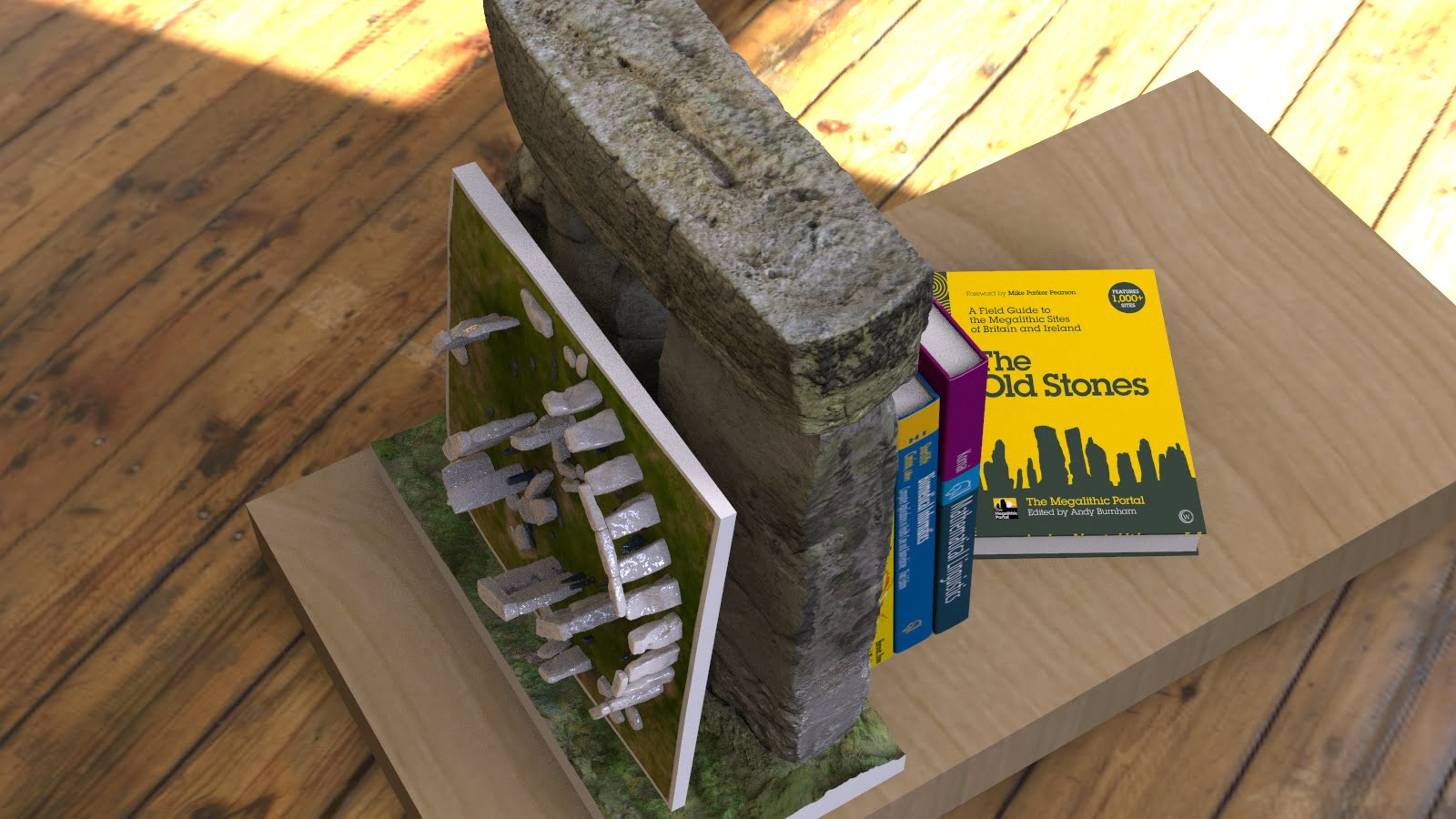 Buy Stonehenge Models: Stonehenge model replica bookend with hyper detailed gicell decals in full UV resistant colour 006  - 24th scale bookend with 200th full model -