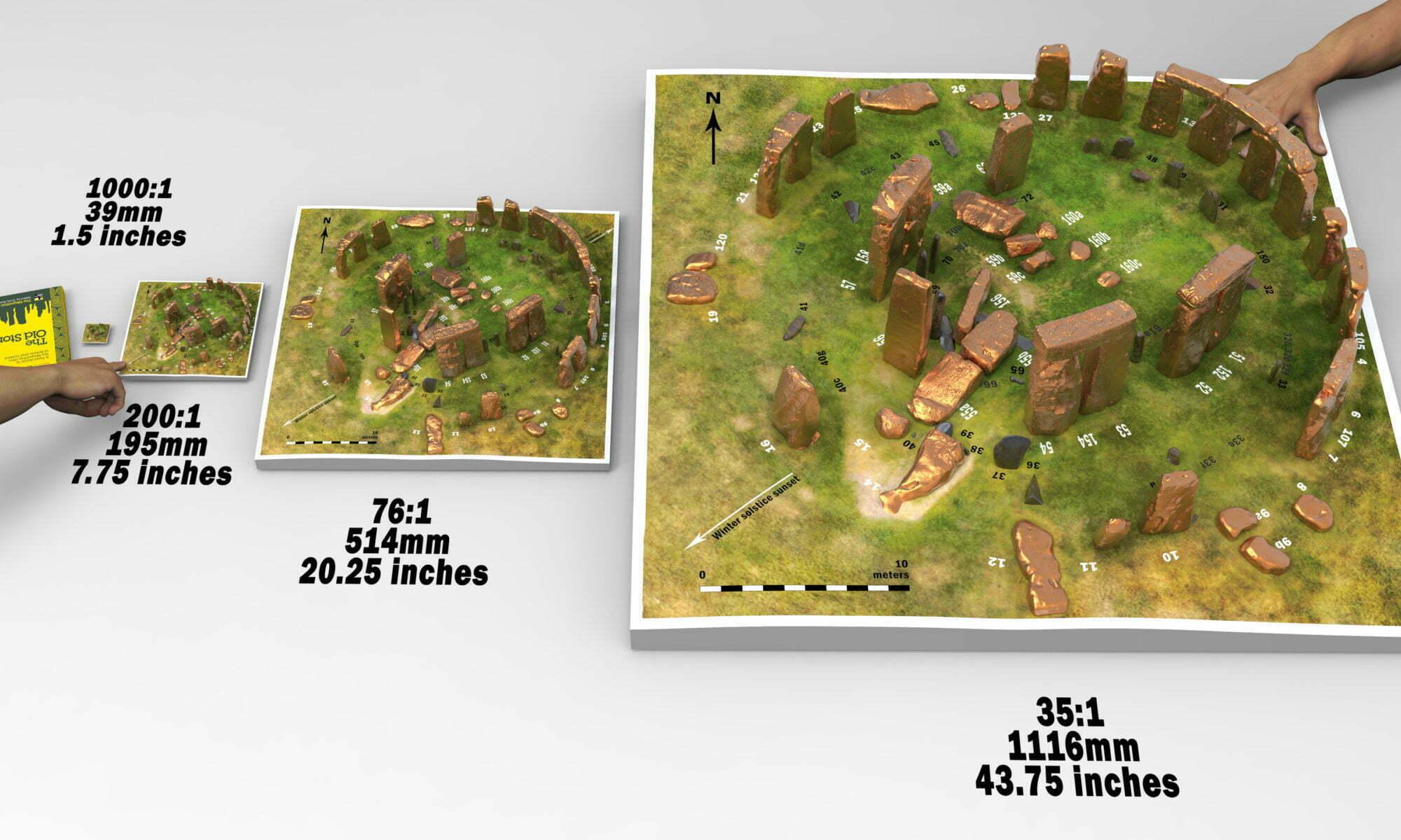 Stonehenge model replica four sizes of models