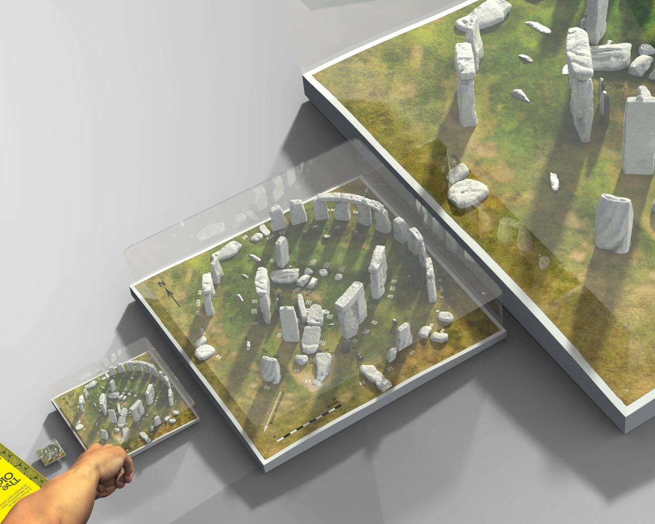 Buy Stonehenge Models: glass case.76 tighter  - Four model sizes -