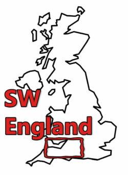 Buy Stonehenge Models: uk map 0002 sw england 250x343  - South West - South West