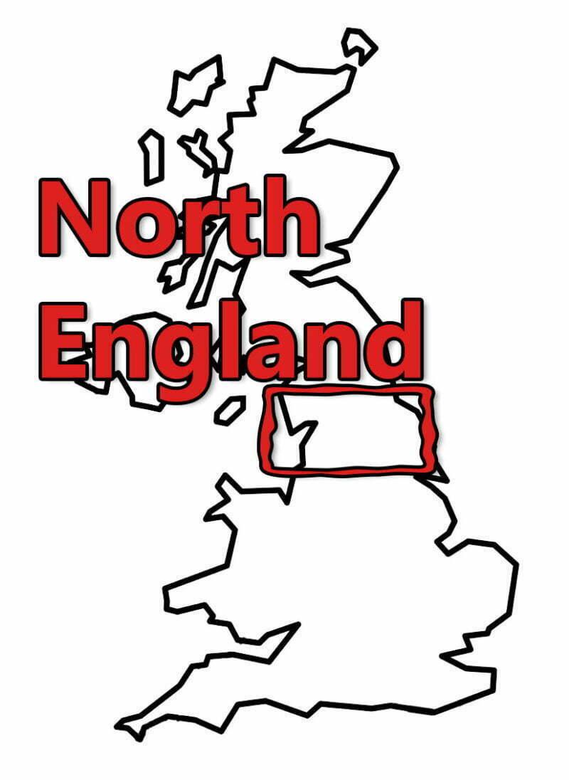 Buy Stonehenge Models: uk map 0003 n england 800x1096  - North - North