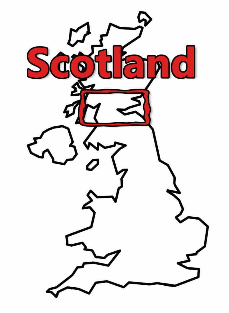 Buy Stonehenge Models: uk map 0004 scotland 800x1096  - Scotland - Scotland