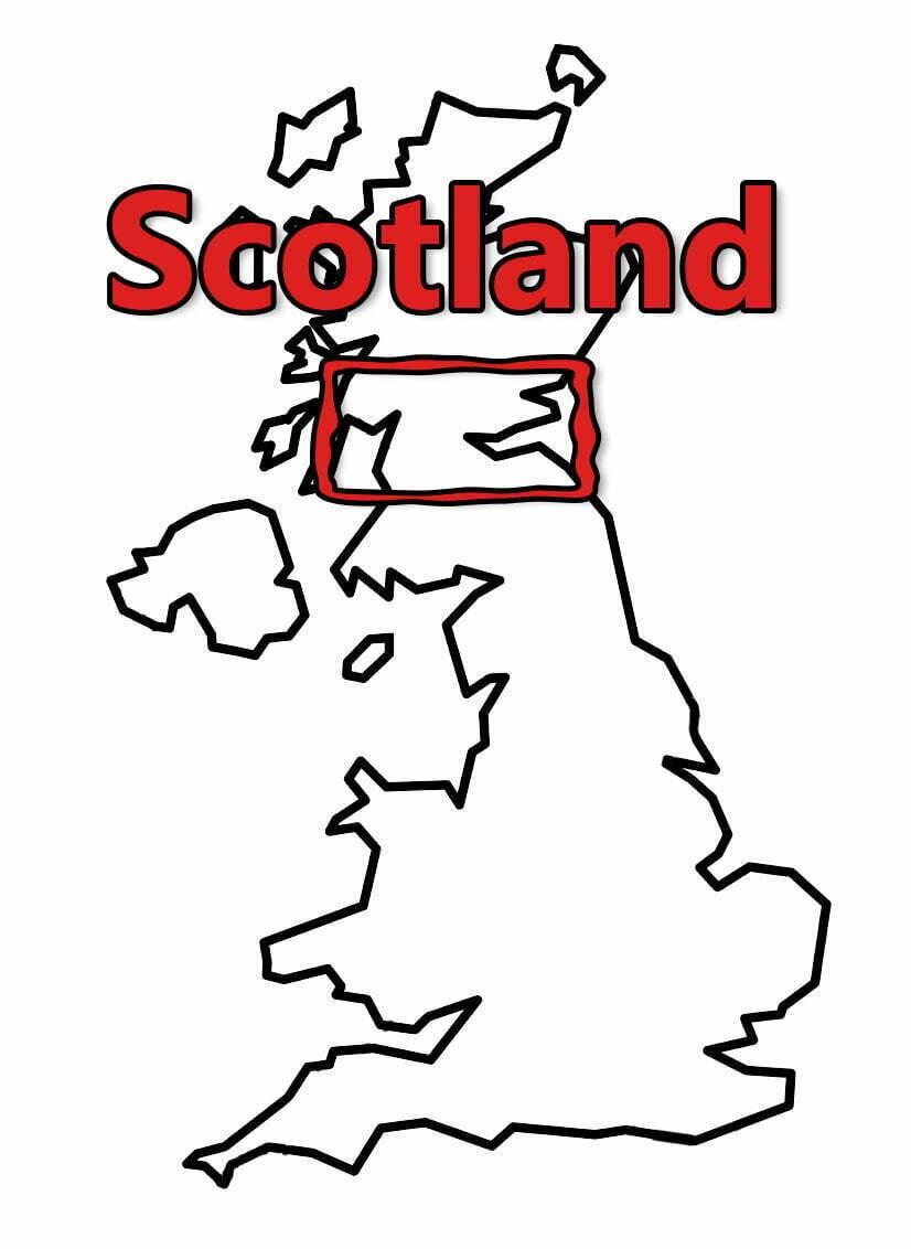 Buy Stonehenge Models: uk map 0004 scotland  - Scotland - Scotland