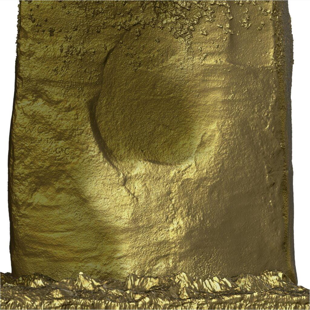 Buy Stonehenge Models: large T2 outside S52 bottom gold 1024x1024  - Trilithon 1, Stone 52 outside - Trilithon 1, Stone 52 outside