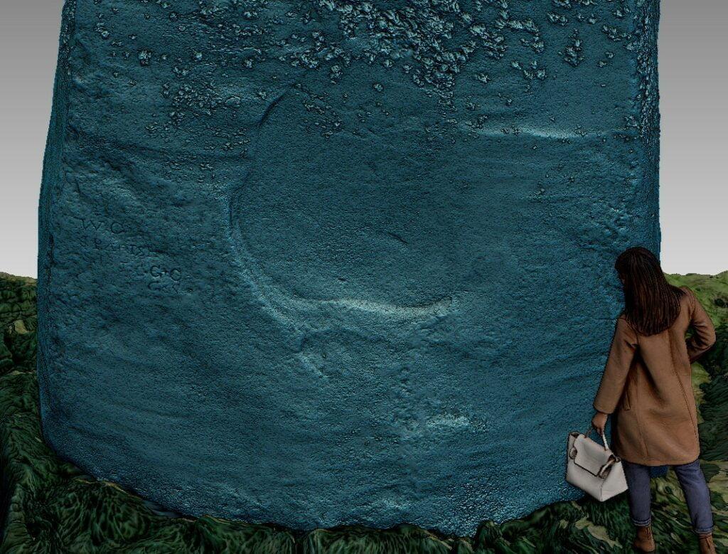 Buy Stonehenge Models: top 1024x779  - Trilithon 1, Stone 52 outside - Trilithon 1, Stone 52 outside